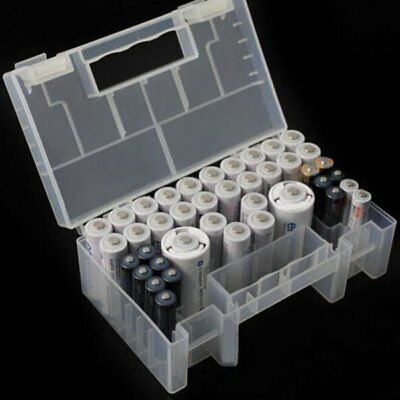 Large Translucent Hard Plastic Case Storage Box Holder For AA AAA C battery KU