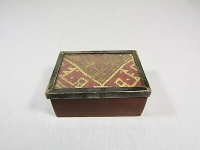 Pre Columbian Tapestry Box Rosewood And Sterling Silver 400-600 Ad