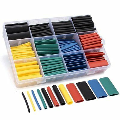 530 pcs Heat Shrink Tubing Tube Assortment Wire Cable Insulation Sleeving Kit KU