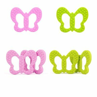 Silicone Baby Shaped Toy Food Grade Teether Grind Babys Teeth Teething Butterfly