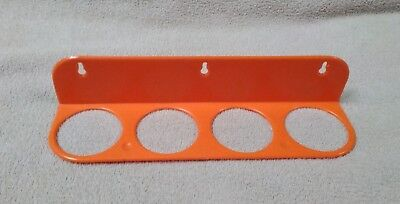 Tupperware Wall Mount SPICE RACK 289-5 Orange 4-container Holder RACK ONLY