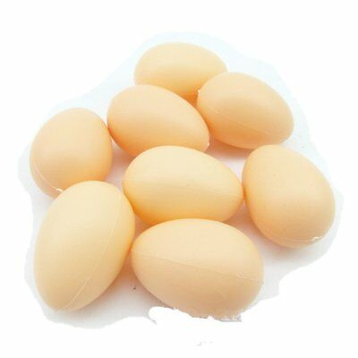 5Pcs Fake Dummy Egg Hen Poultry Chicken Plastic Prank Eggs Party Decor Kids Toy