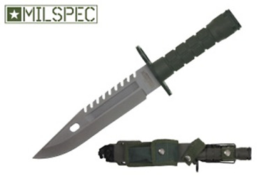 """12"""" Army Military Tactical Survival Combat Fixed Blade Bayonet Knife - Green"""