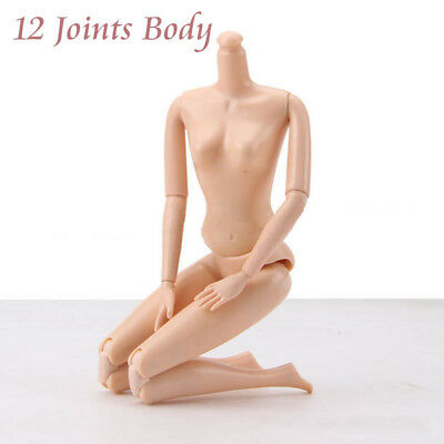 1pc 12 Jointed DIY Movable Nude Naked Doll Body For Barbie Doll House DIY Gifts