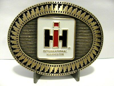 International Harvester IH LOGO Belt Buckle 1985 FARMALL PLANT Lt Ed 36/200 RARE