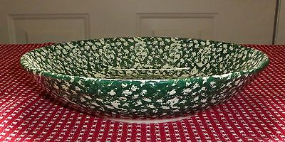 """Green spongeware """"ROMA SERVING BOWL"""" made in Italy, vg cond."""