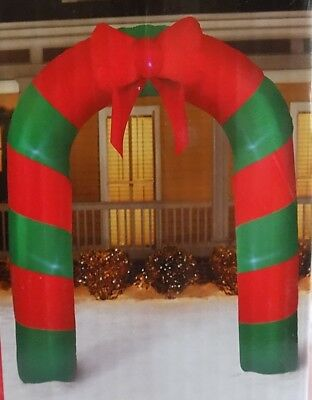 CHRISTMAS AIRBLOWN INFLATABLE ARCHWAY w/BOW 7.5 feet tall NEW IN BOX ARCH GEMMY