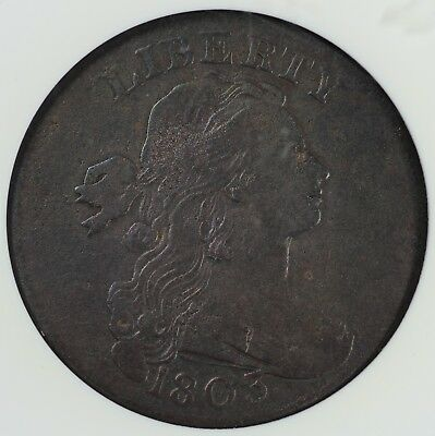 1803 1c Draped Bust Large Cent ANACS F 12 DETAILS CORRODED