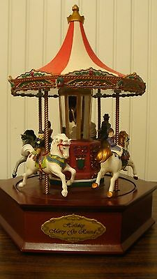 Mr. Christmas Holiday Merry Go Round Musical Carousel, Works