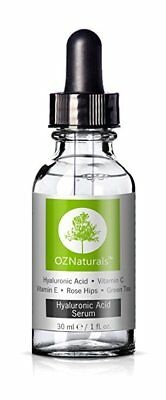 OZNaturals Anti Aging Hyaluronic Acid Serum with Vitamin C - 1 oz