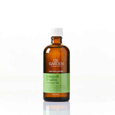 Oil Garden Tranquil & Calm Massage & Body Oil 100% Natural Pure Aromatherapy