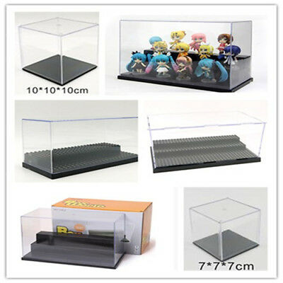 Clear Acrylic Display Box Dustproof Protection Toy Doll Car Model Show Case