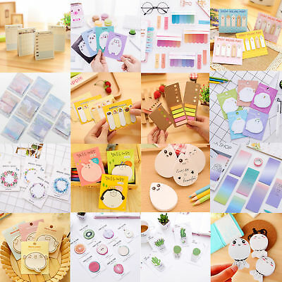 Cartoon Sticker Post It Bookmark Marker Flags Pad Tab Sticky Notes Guestbook