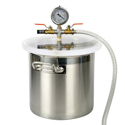 【Ships from CA】YaeTact Brand New 3 Gallon Stainless Steel Vacuum Chamber kit