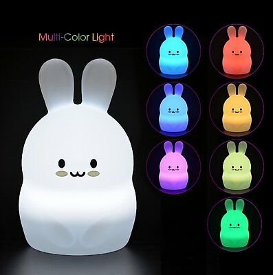LumiPets Baby Night Light Nursery Lamp - Cute Portable LED Soft Touch Safe For &