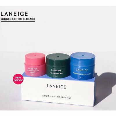 [LANEIGE] Sleeping Care Good Night Kit (3 Items) Water, Eye, Lip Sleeping Mask
