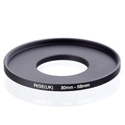 RISE(UK) 30mm-58mm 30-58 mm 30 to 58 Step Up Ring Filter Adapter black