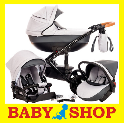 Paradise Baby Melody 3in1wózek stroller Kinderwagen car seat and adapters