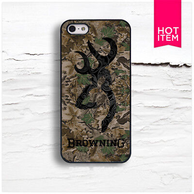 Browning Deer Camo iPhone 5 5S 5C 6 6S 7 7S 8 8S Plus X Case Cover