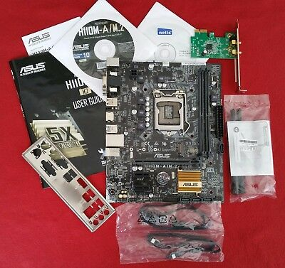 Mainboard Asus H110M-A/M.2 mit WiFi PCIe Adapter