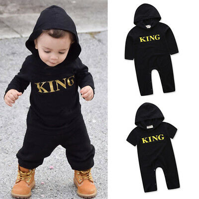 New Newborn Baby Kid Boy Girl Infant Romper Jumpsuit Bodysuit Hooded Outfit Set