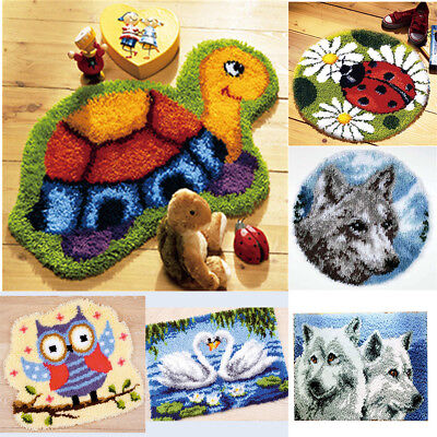 DIY Latch Hook Kit 13 models Needlecrafts Gift 20'' Rug Cute Animals Carpet