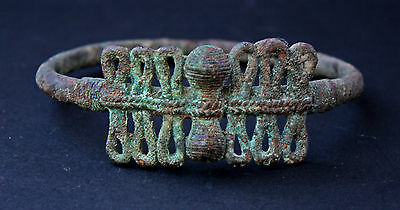 Antique Bronze Bangle Antiquity Roman Greek Ancient - French Flea Market Find