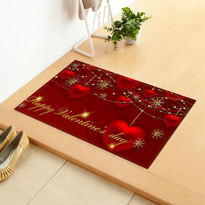 Valentine'S Day Mattress Doormat Brightly Colored Polyester Fiber Rectangle .