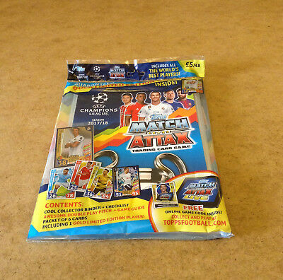 Match Attax Uefa Champions League 2017/18 Trading Card Starter Pack Gold Card