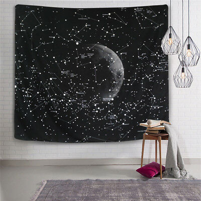 Constellations Universe Galaxy Space Star Tapestry Map Wall Decor Decoration