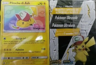 Pikachu Di Ash Carta - Card Esclusiva Pokemon Cinema
