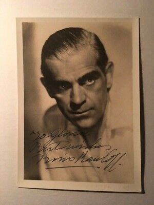 Movies Frankenstein With Boris Karloff A Great Variety Of Models Horror Actor John Boles Vintage Signed Photo