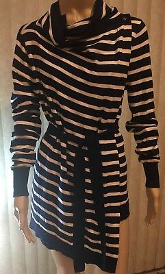 NWT JoJo Maman Bebe Maternity Nursing 4-Way Breton Stripe Cardigan Sweater S New