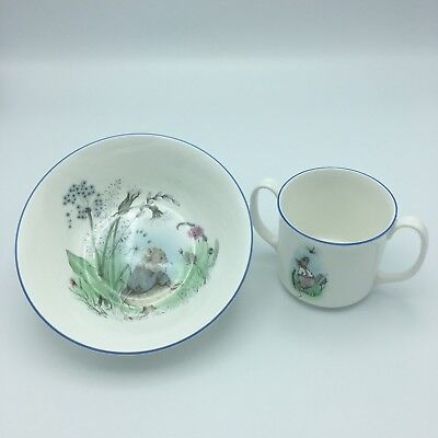 Elizabethan Mr Mouse Cup and Bowl Fine Bone China Hand Decorated Made in England