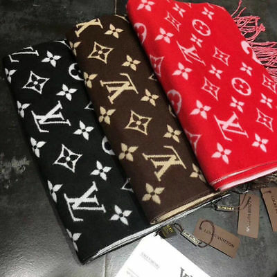 NEW Warm Black/Brown/Red Wool Cashmere Blend Scarf Shawl High quality