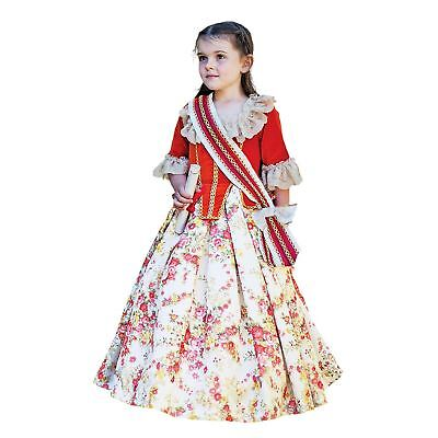 Kids Girls Floral Fairytale Countess Queen Gown Book Week Fancy Dress Costume