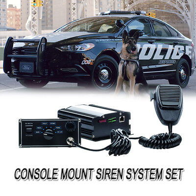 100W 12V Sound Loud Car Warning Alarm Police Siren Horn Pennsylvania MIC System