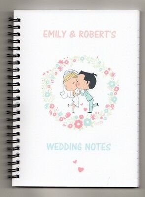 personalised wedding notes notebook a5 100 pages wedding planner