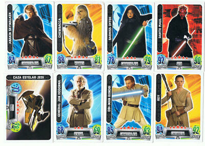 Lote de 14 tradding cards de Force Attax Star Wars