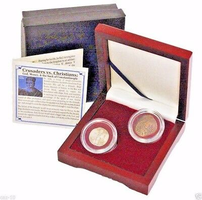 Crusaders vs. Christians: Coins of the Fourth Crusade Boxed Set of 2 Coins
