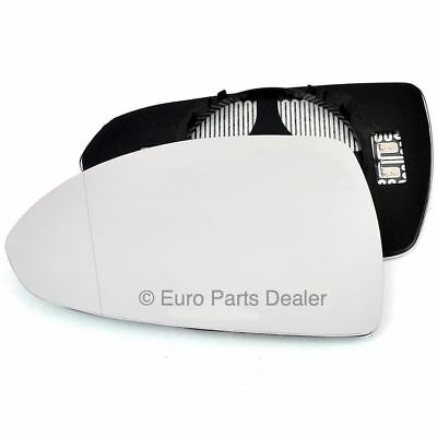 Wing mirror glass for Vauxhall Corsa D 06-14 Passenger side Aspherical Electric