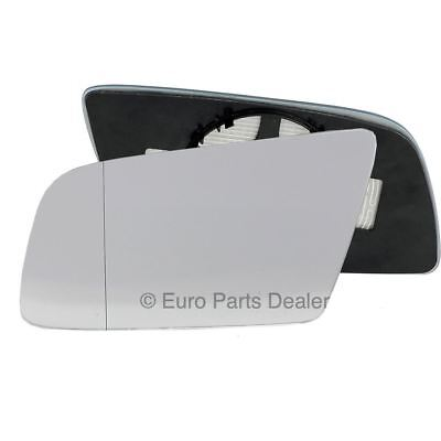 Left side Clip Heated Blue Convex wing mirror glass for BMW 5er E60 E61 03-10