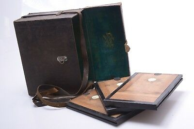 L. Joux 13X18Cm Camera Case W/ 3 Double Sided Plate Holders