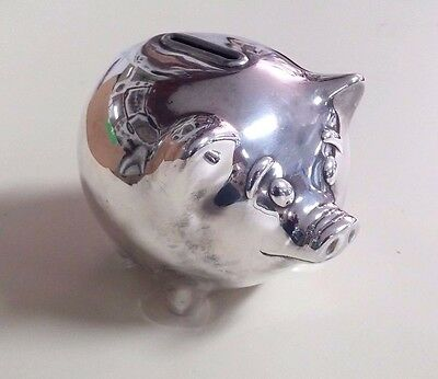 Vintage Rare Tiffany & Co Sterling Piggy Bank Silver 925 206 grams Italy Pig