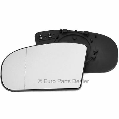 Left side mirror glass with clip for Mercedes C W203 00-07 heated Aspherical
