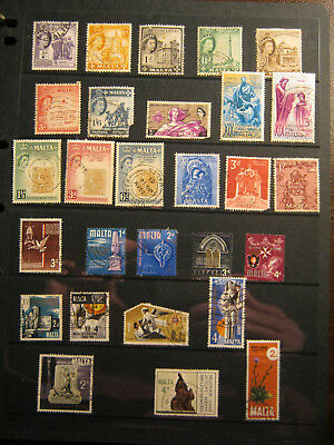 Stamps - Various Issues from Malta