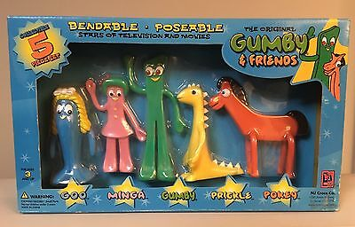 Gumby and Friends Bendable Poseable Figures Collectible 5 Piece Set Rare