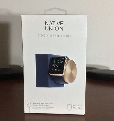 Native Union DOCK - Apple Watch Charging Dock - Navy Blue And Gold MSRP - $130