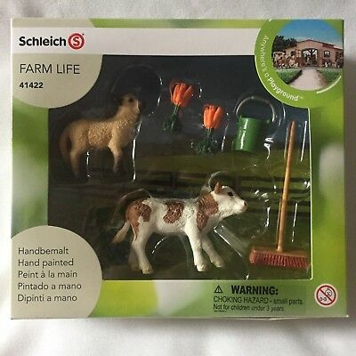 Schleich Farm Life 41422 Stable Cleaning Kit Lamb Calf Carrots  Sealed