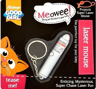 LASER MOUSE - (cat toy) - Good Girl Pointer Pen Toy Kitten Chase Fun bp Keyring